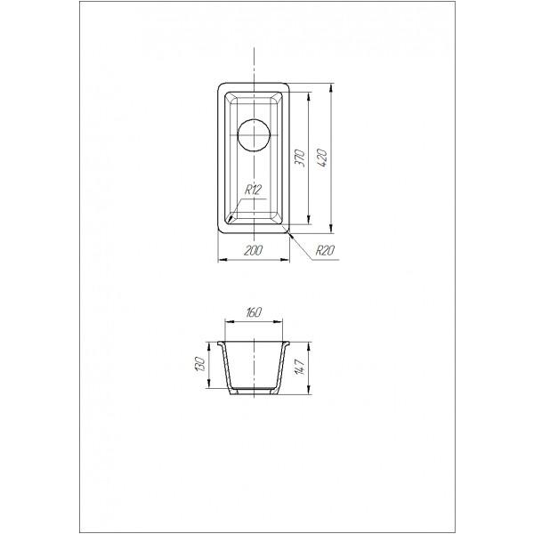 Кухонная мойка Galati Mira U-160 Avena (501) авена