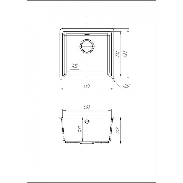 Кухонная мойка Galati Mira U-400 Piesok (301) песочная