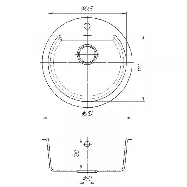 Кухонная мойка гранитная Galati Kolo Grafit (201) 8663