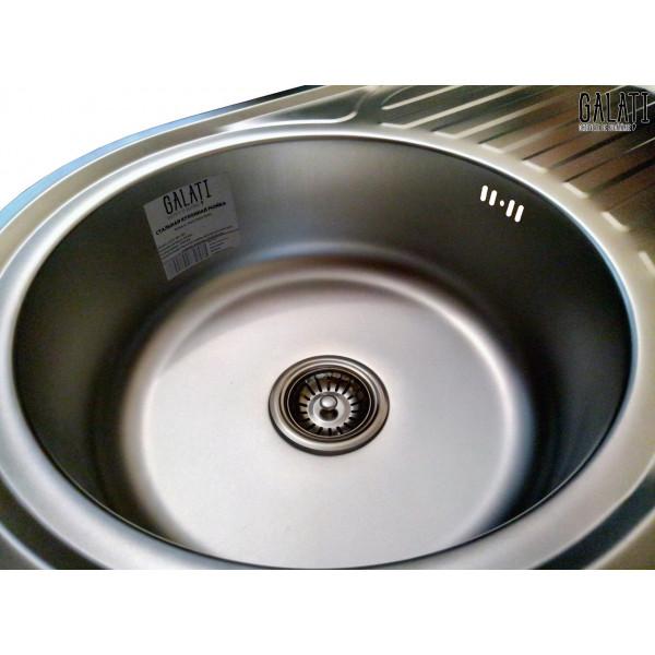 Кухонная мойка стальная Galati Dana Nova Satin 8485