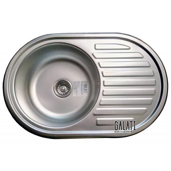 Кухонная мойка стальная Galati Dana Textura 7130