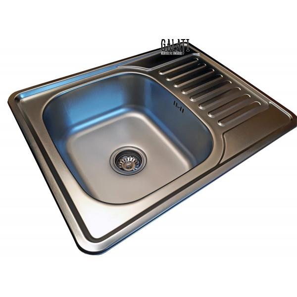 Кухонная мойка стальная Galati Donka Satin 7895