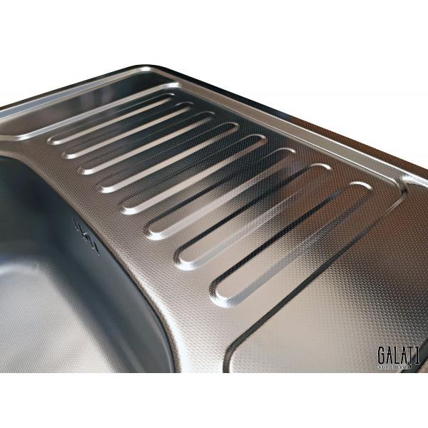 Кухонная мойка стальная Galati Donka Textura 7896