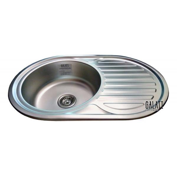 Кухонная мойка стальная Galati Eko Dana Nova Satin 7226
