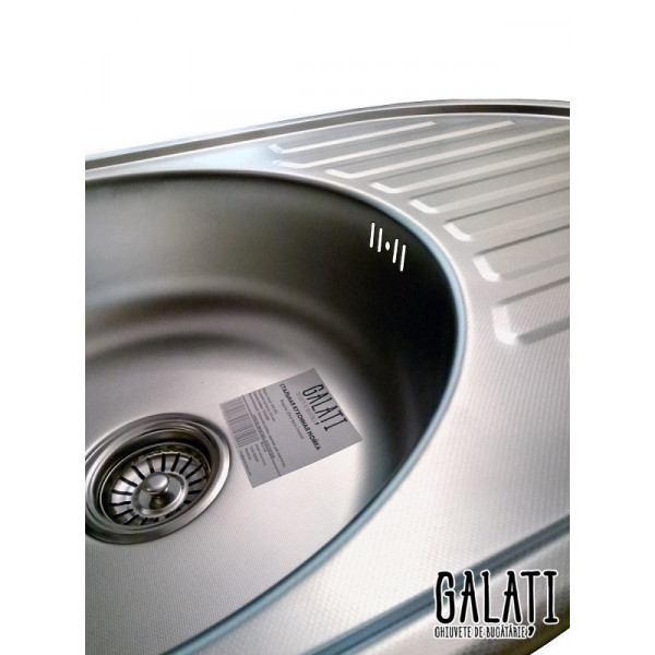 Кухонная мойка стальная Galati Eko Dana Textura 9685