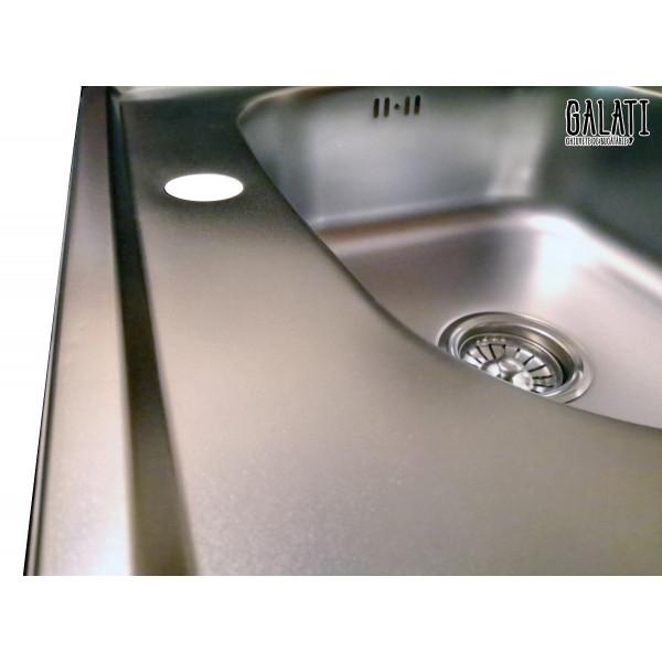 Кухонная мойка стальная Galati Eko Fifika Satin 7123