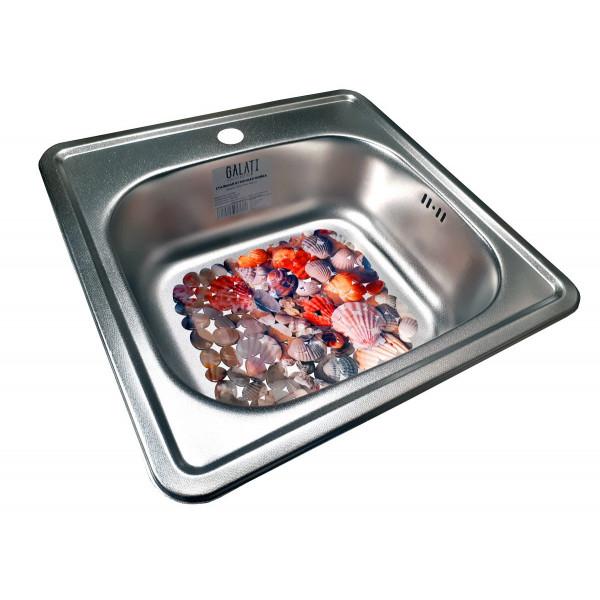Кухонная мойка стальная Galati Eko Fifika Textura 7124