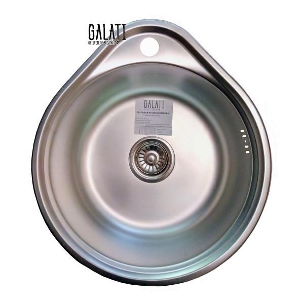 Кухонная мойка стальная Galati Eko Lala Satin 8660
