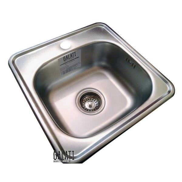 Кухонная мойка стальная Galati Eko Mala Satin 7125