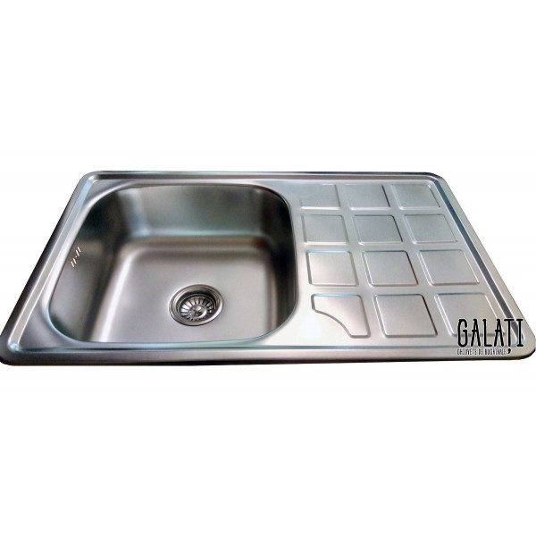 Кухонная мойка стальная Galati Eko Rodica Satin 8473