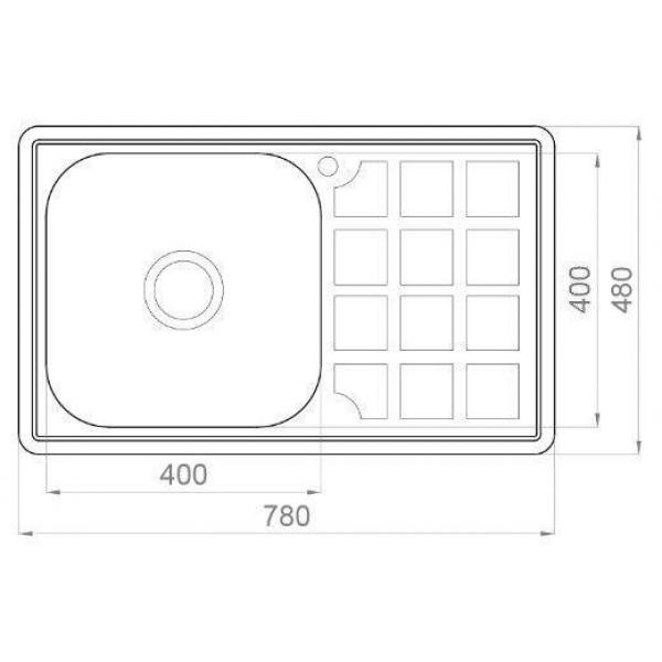 Кухонная мойка стальная Galati Eko Rodica Textura 8474