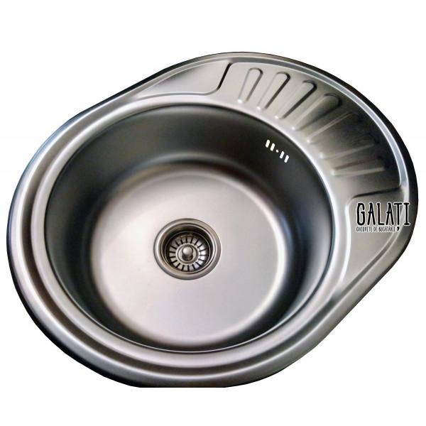 Кухонная мойка стальная Galati Eko Taleyta Satin 9686