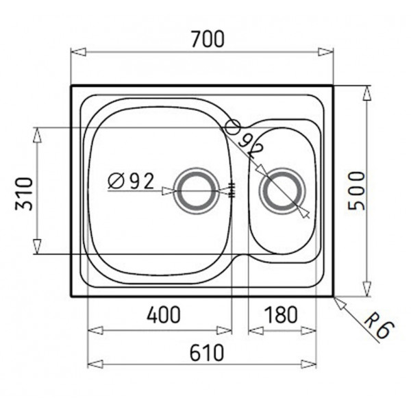 Кухонная мойка стальная Galati Fifika 1.5C Satin 4013