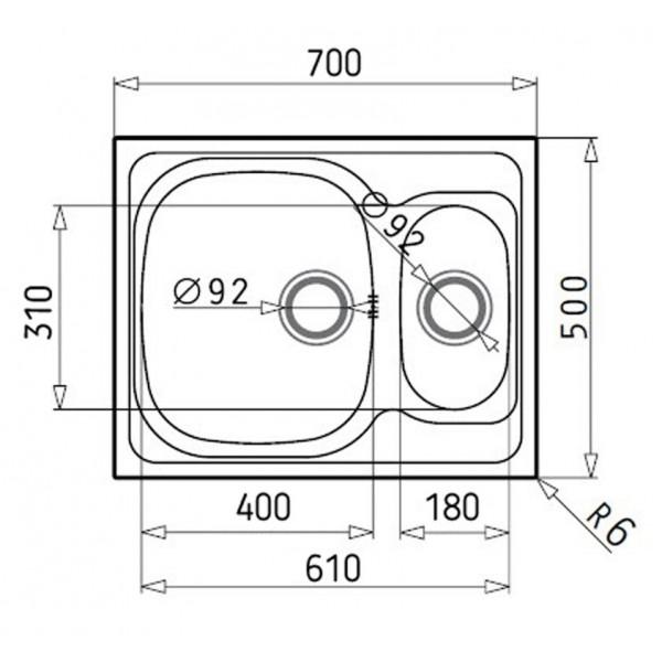Кухонная мойка стальная Galati Fifika 1.5C Textura 4017