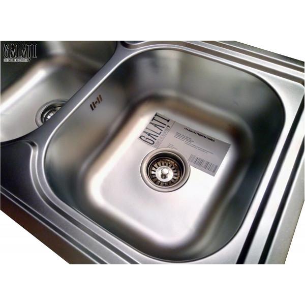 Кухонная мойка стальная Galati Fifika 2C Satin 4015