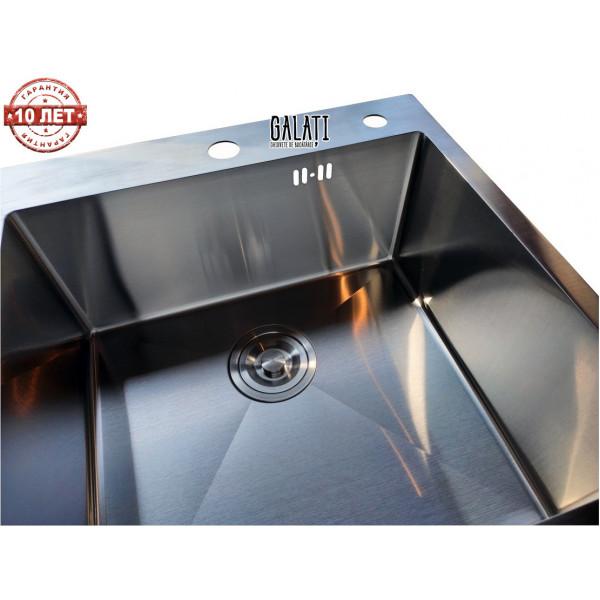 Кухонная мойка стальная GALATI HAND MADE Arta U-450 нержавеющая сталь