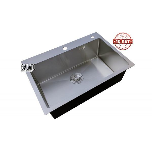 Кухонная мойка стальная GALATI HAND MADE Arta U-600 + колландер