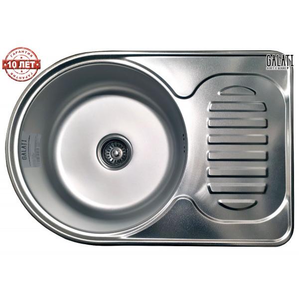 Кухонная мойка стальная Galati Luca Satin нержавеющая сталь