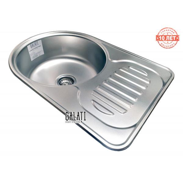 Кухонная мойка стальная Galati Luca Textura нержавеющая сталь