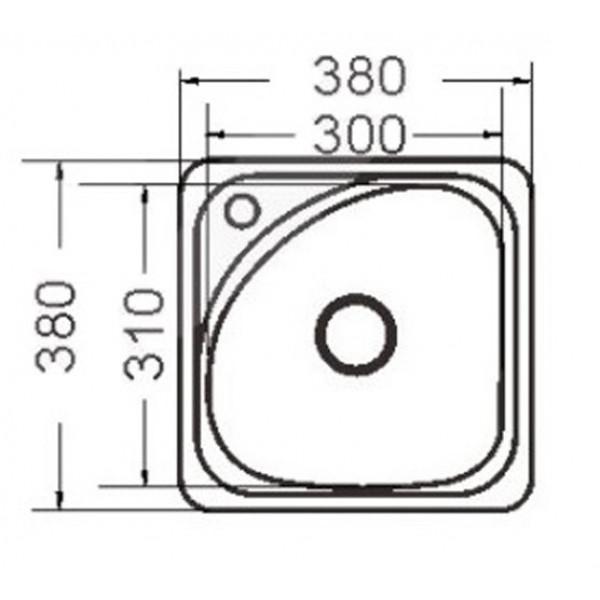 Кухонная мойка стальная Galati Mala Nova Textura 9662