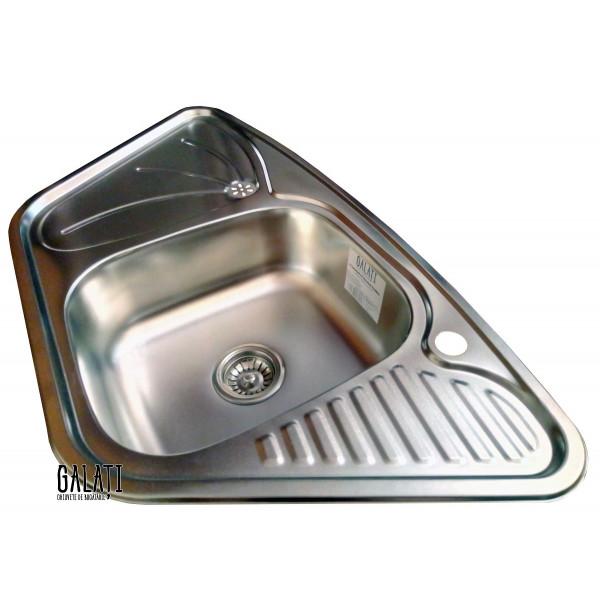 Кухонная мойка стальная Galati Meduza Nova Satin 4014