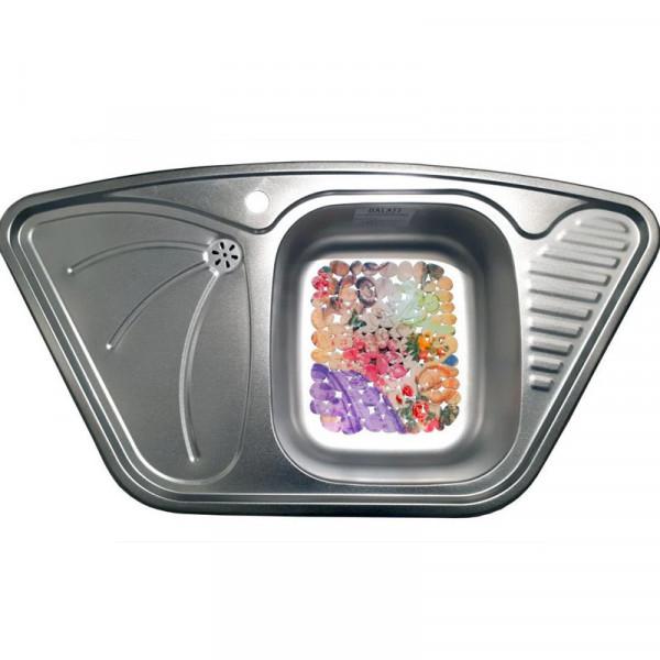 Кухонная мойка стальная Galati Meduza Nova Textura нержавеющая сталь