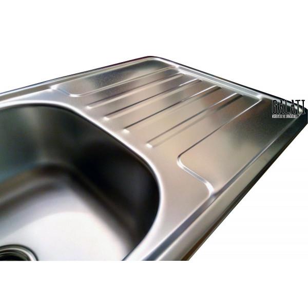 Кухонная мойка стальная Galati Milana Satin 8493