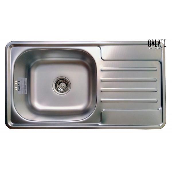 Кухонная мойка стальная Galati Milana Textura 8494