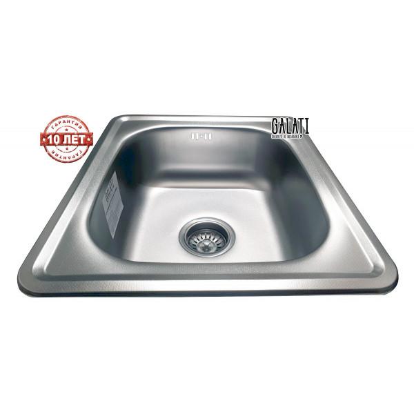 Кухонная мойка стальная Galati Nicola Textura нержавеющая сталь