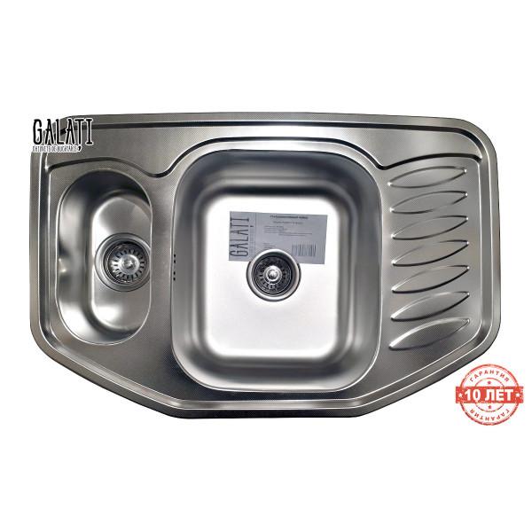 Кухонная мойка стальная Galati Rampa 1.5C Textura нержавеющая сталь