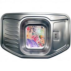 Кухонная мойка стальная Galati Rampa Textura нержавеющая сталь