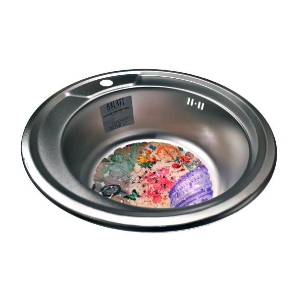 Кухонная мойка стальная Galati Sorin Satin 7127