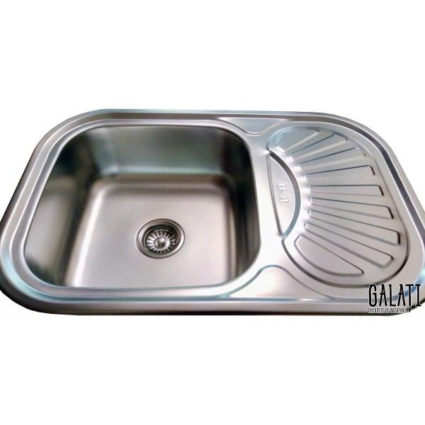 Кухонная мойка стальная Galati Stela Satin 8475