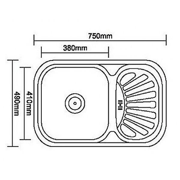 Кухонная мойка стальная Galati Stela Textura 8476