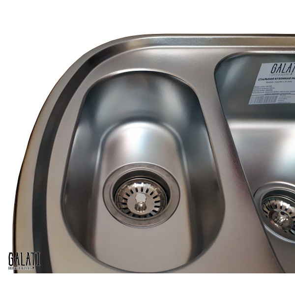 Кухонная мойка стальная Galati Vayorika 1.5C Satin 7897