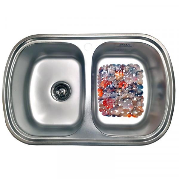 Кухонная мойка стальная Galati Vayorika 2C Satin 8489