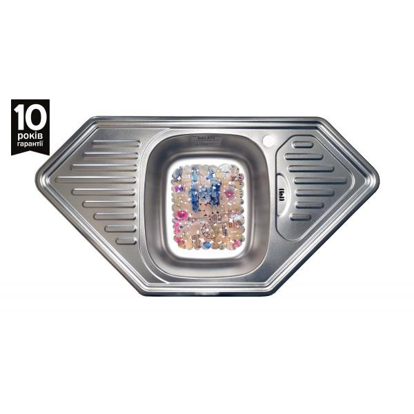 Кухонная мойка стальная Galati Meduza Satin 7237