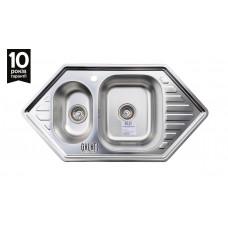Мойка кухонная стальная Meduza 1.5C Textura нерж.сталь