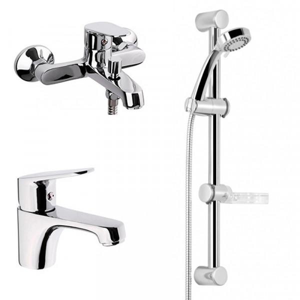 Комплект смесителей для ванны 3 в 1 Deante BGLB010M
