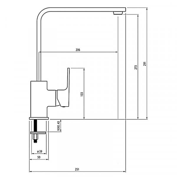 Смеситель для кухни Deante Anemon BCZ 062M