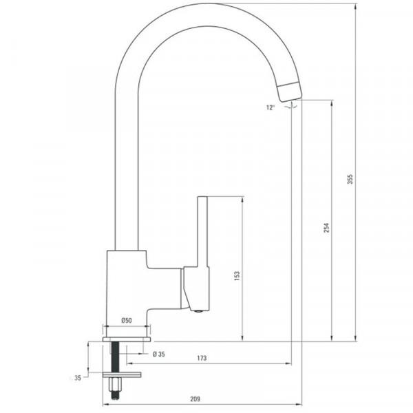 Смеситель для кухни Deante Aster BCA 062M