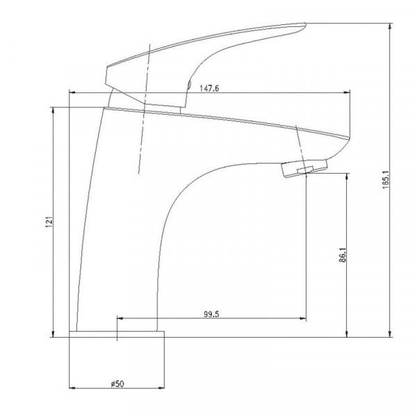Смеситель для раковины Deante LAVENDER BCV 021M