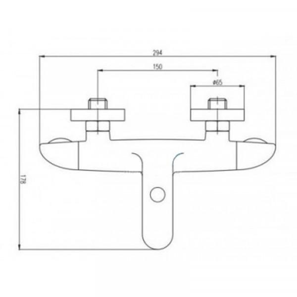 Смеситель для ванны двухвентильный Deante Melissa BCL 010D