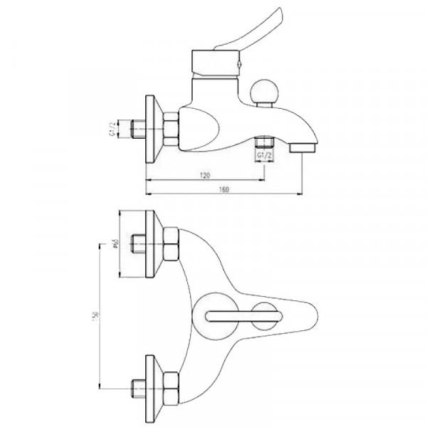 Смеситель для ванны с душевым гарнитуром Deante Kostel BFK 011M
