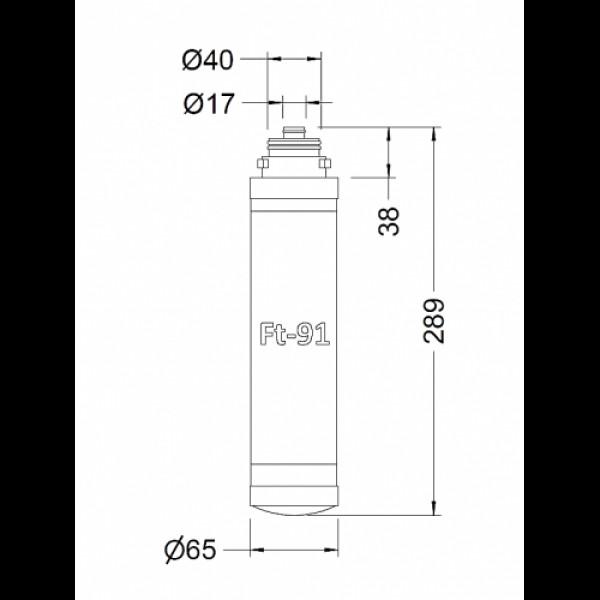 Антибактериологический ультрафильтрационный картридж (FT91)