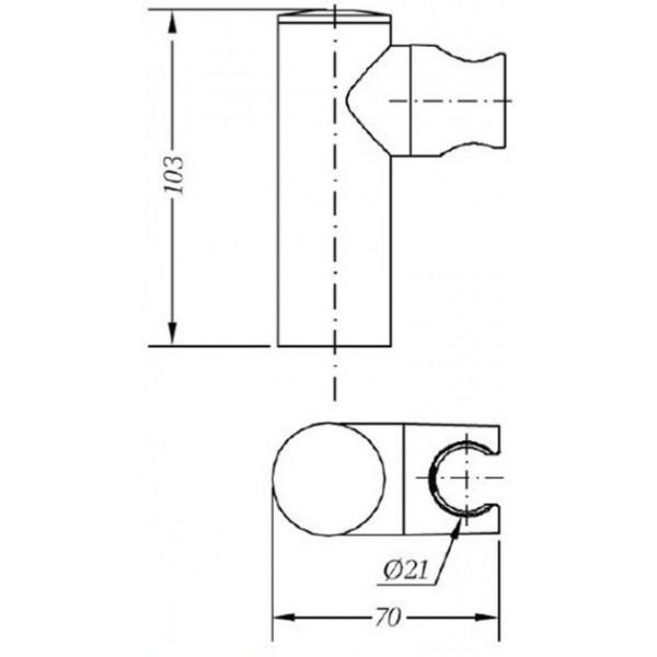 Держатель для душа Genebre Cylindrical 100153 45