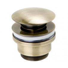 Сливной гарнитур для раковины Genebre Luxe bronze click pop-up 1 1/4