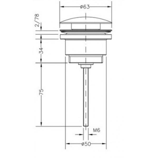 Сливной гарнитур для раковины Genebre Luxe CLICK 100211 45