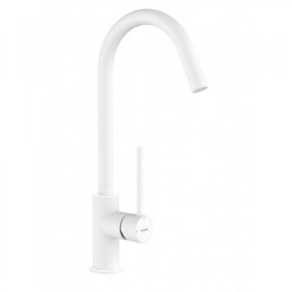 Смеситель для кухонной мойки белый  Genebre Tau White 65403 18 40 66
