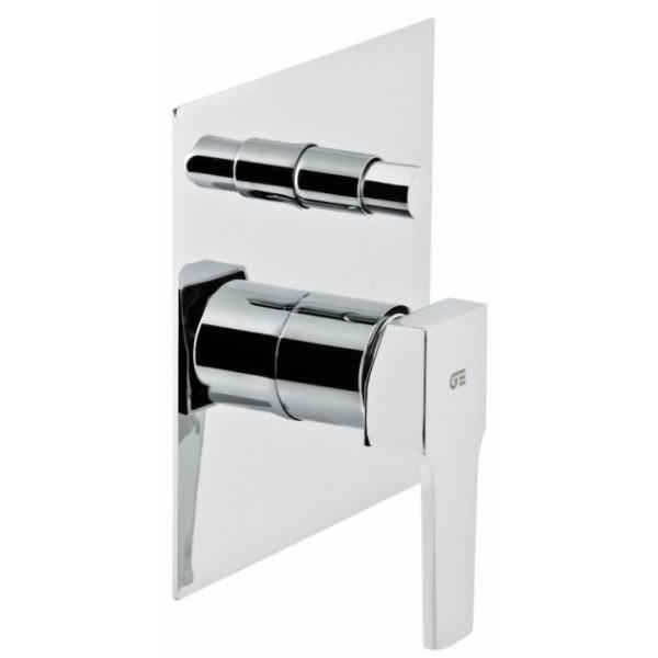 Смеситель скрытого монтажа ванна/душ с переключателем Genebre Kenjo 63116 26 45 66